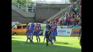 FC Viktoria Plzeň - 1.FK Příbram 5:0 - penalty, oslava gólů (09.05.2012)