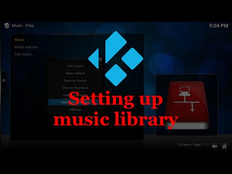 Setting up your initial music content in Kodi