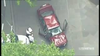 Police Pursuit through Melbourne CBD - Bourke St Car Ploughs into Pedestrians