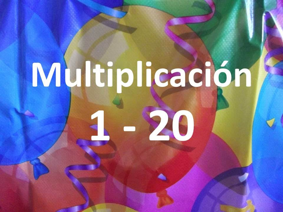 tabla de multiplicar multiplicación 1 20 vídeo interactivo