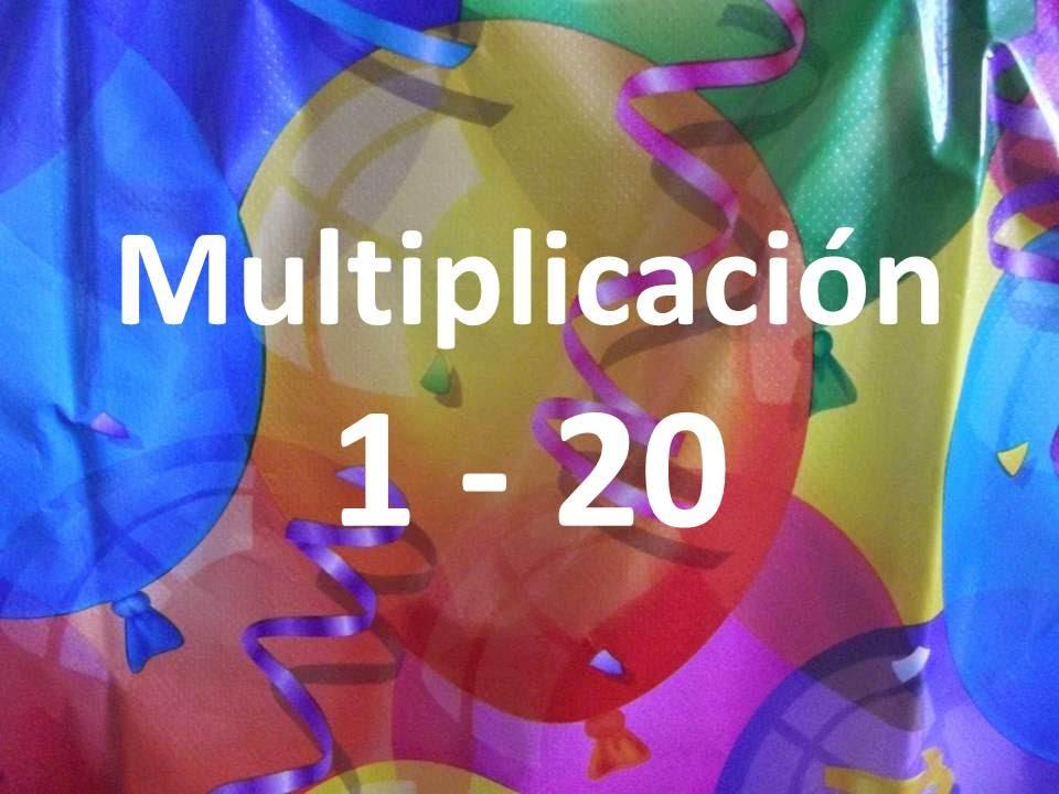 Tabla De Multiplicar Multiplicación 1 20 Vídeo Interactivo