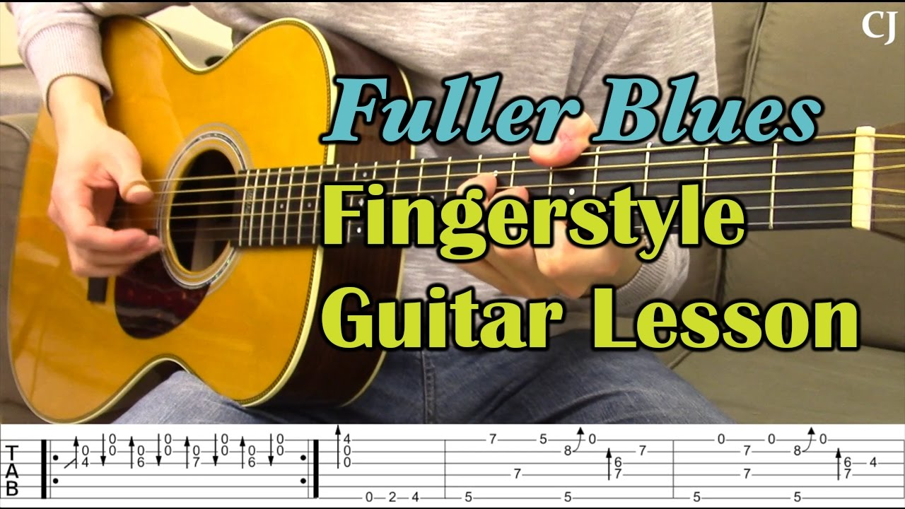 Fuller Blues - Merle Travis (With Tab) - Watch and Learn Fingerstyle Guitar  Lesson