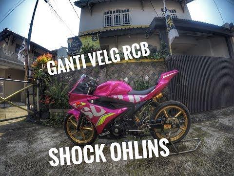 #roadrace #ohlins #rcb REVIEW V2  SUZUKI GSX 150R ||| Ganti Velg  RCB Dan  SHOCK OHLINS