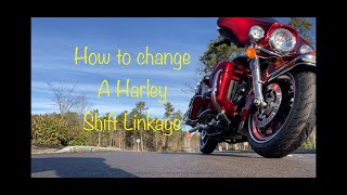 How to change Harley Davidson shift linkage.