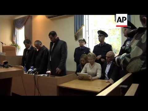 Ukraine - Former Prime Minister Yulia Tymoshenko jailed for 7 years