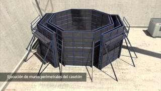 Montaje y construcción del faro de composites de ACCIONA
