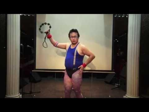 """ペガサス幻想 Japanese Comic Dancer - Tambourine Master GONZO dances to """"Pegasus Fantasy"""" of Saint Seiya"""