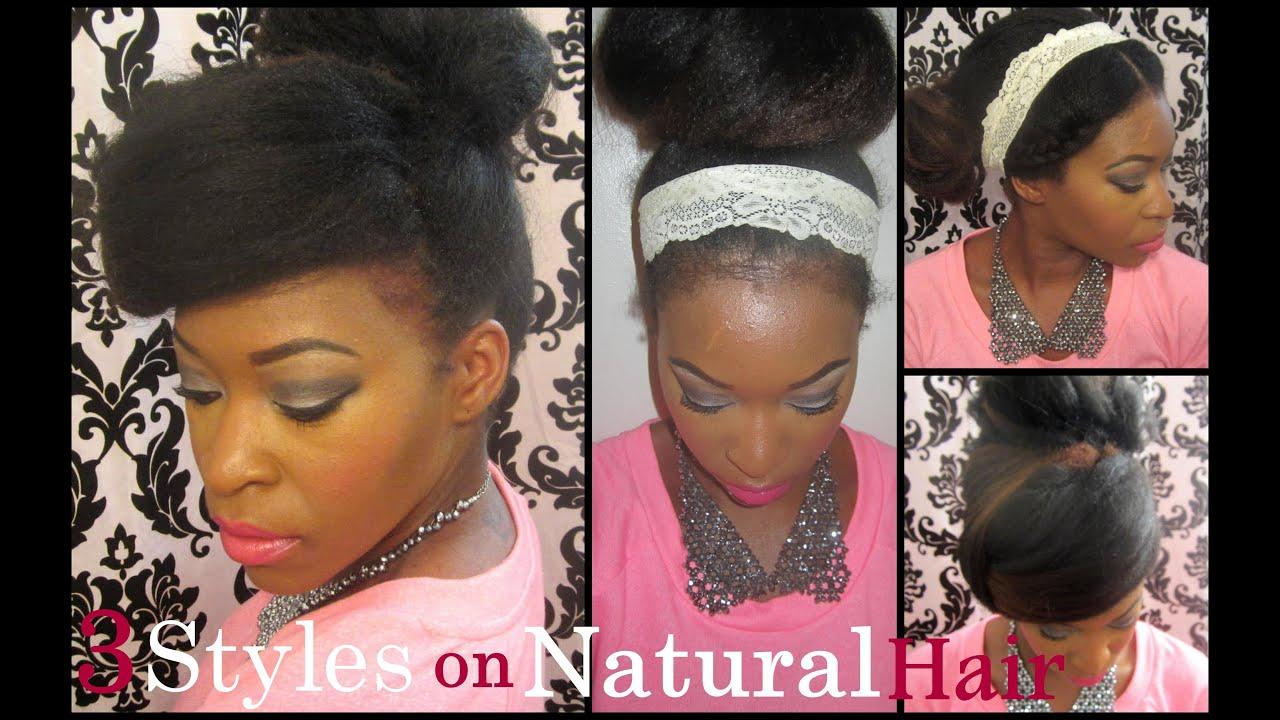 Old Flatironed Hair 3 Hairstyles Vintage Bohemian Chic
