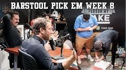 Barstool Pick Em Week 8 Slate