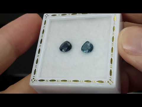 揚邵一品(鈷藍色尖晶~ 編號2) 錫蘭鈷藍尖晶石2顆共1.56克拉 鈷藍色   (斯里蘭卡)天然無燒~