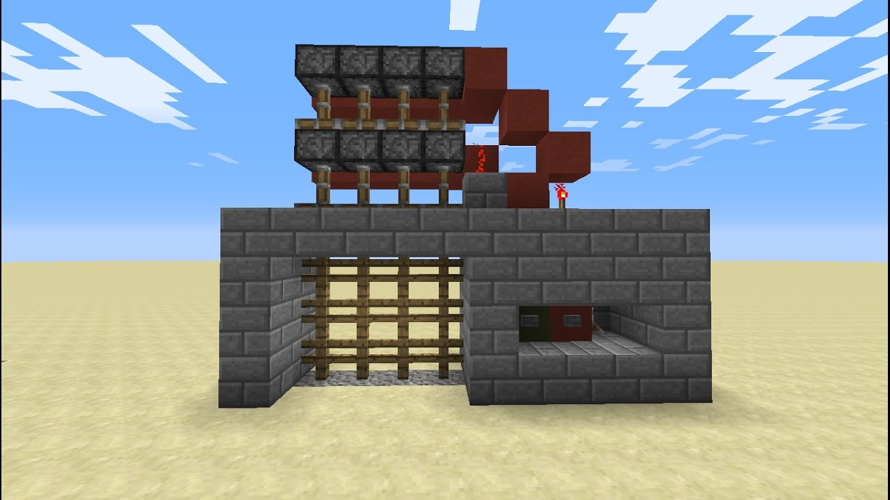 How to make a Portcullis Gate (castle gate) in Minecraft! & How to make a Portcullis Gate (castle gate) in Minecraft! - YouTube