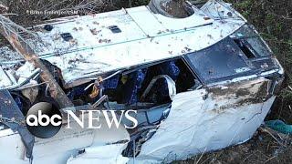 1 child killed, 45 injured in Arkansas bus crash
