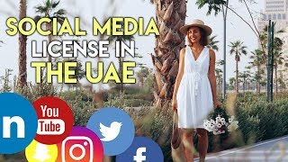 UAE social media influencer license. Business in Dubai.
