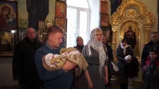 Видеосъемка крестин Мишутки г.Днепропетровск
