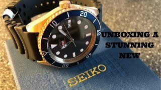 Unboxing A New And Beautiful Seiko Dive Watch