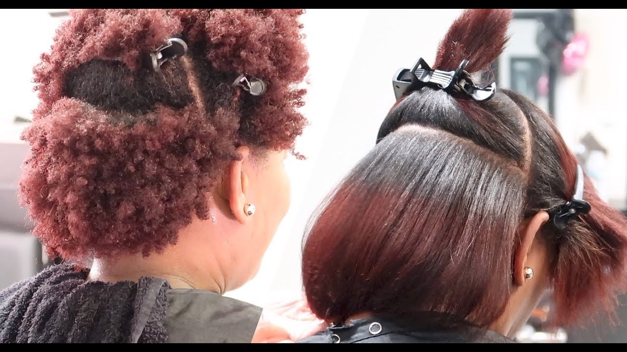 Silk Press On 4z Natural Hair Lol Salonwork Youtube