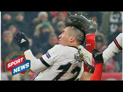 Bayern Munich horror as Robert Lewandowski KICKS Gary Medel in the HEAD - VIDEO