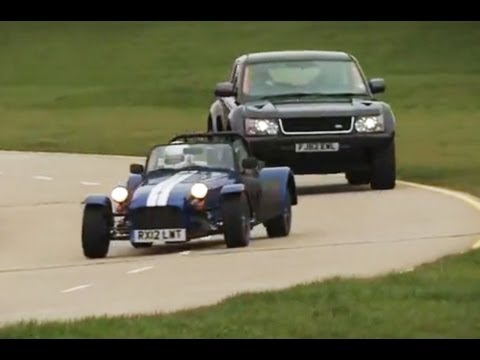 Land Rover Bowler EXR S v Caterham Seven Supersport race - autocar.co.uk
