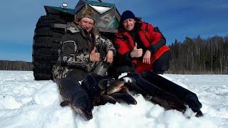 Рыбалка на таёжном озере Март 2021 Это вам не Якутия