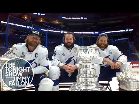 Jimmy Talks to Stanley Cup Champions Steven Stamkos, Nikita Kucherov and Victor Hedman