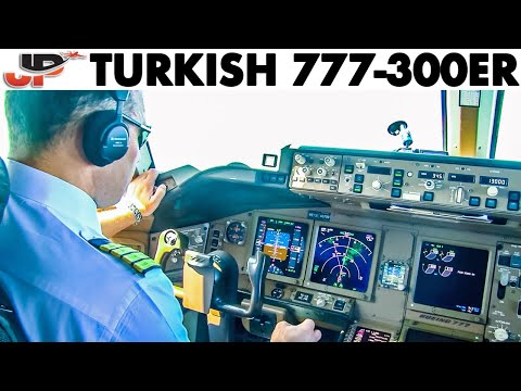 Piloting The TURKISH 777-300ER Out Of Tokyo