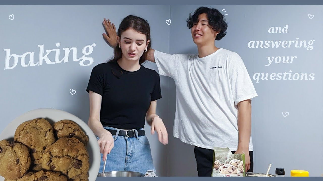 Baking and answering your questions (International Couple) 여친과 쿠키를 구우면서 Q&A 합니다(국제커플)