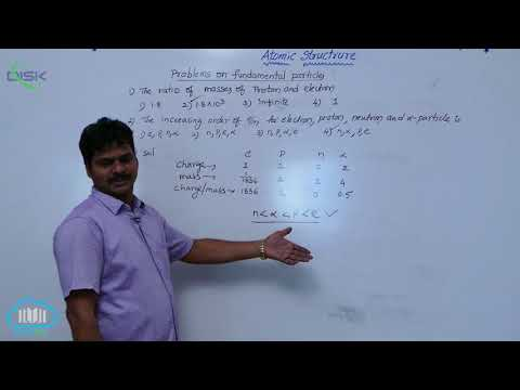 Sub-atomic particles || Problems on Fundamental Particles || Disk Telangana