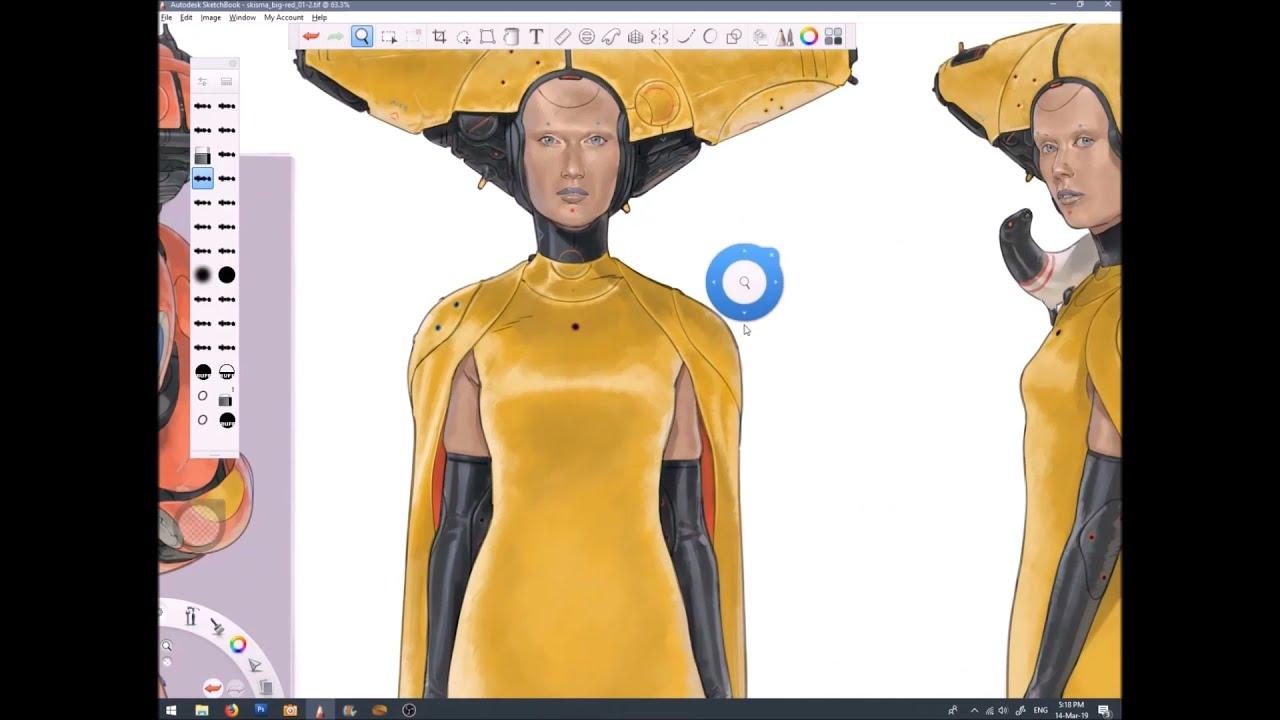 Character Concept by Calum Watt using Sketchbook Pro