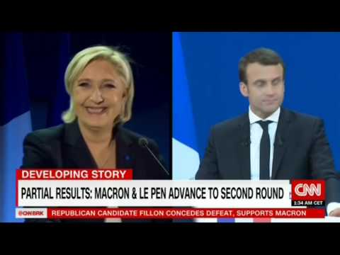 Le Pen, Macron Projected As Winners In French Presidential Election