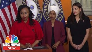 With 'Squad' Rep. Ayanna Pressley Responds To Donald Trump: 'We Will Not Be Silenced' | NBC News Now