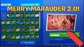 "Merry Marauder 2.0 CONFIRMED! Fortnite NEW ""Burnt Gingerbread Man"" Skin Coming!"