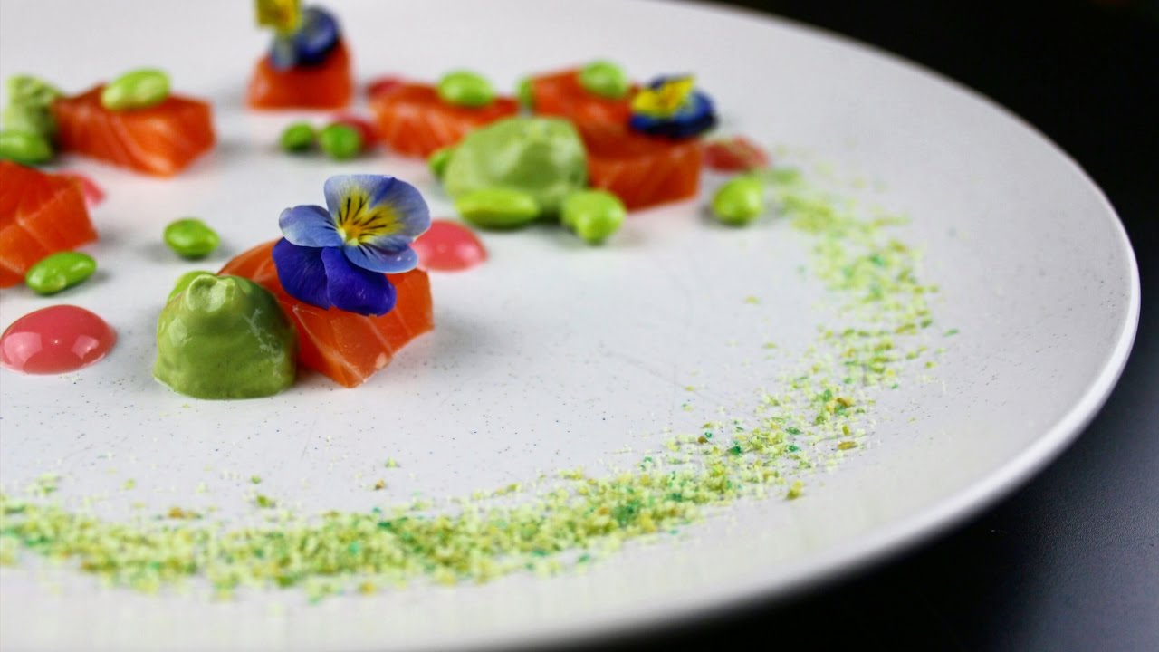 Plating Food 8 Cured Salmon Youtube