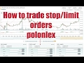How to use stop limit orders on Poloniex