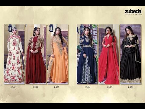 latest indian dresses collections 2017 || ZUBEDA POSH COLLECTION || Roshni Internatinal pvt.ltd