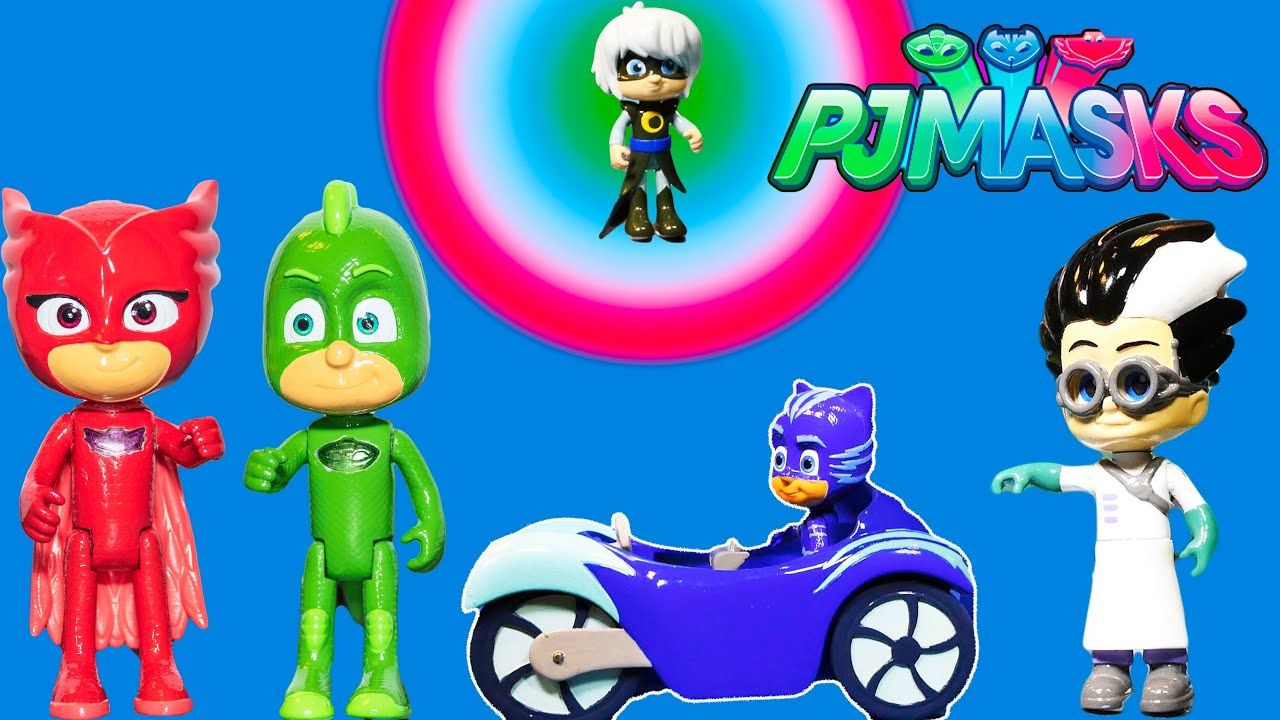 PJPJ Masks Catboy And Owlette And Gecko Toys At The Toy Fair   YouTube
