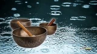 Rain With Metal Crystal Bowls - Full 60 Minute Soundtrack