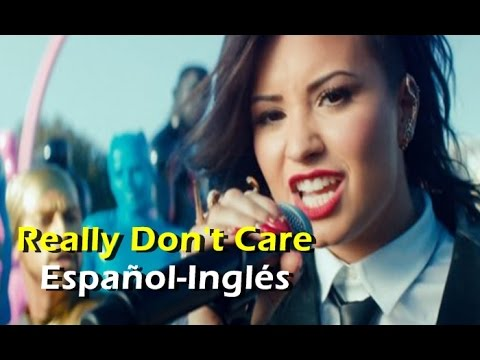 Demi Lovato ft Cher Lloyd - Really Don't Care (Official Video) [Letra Español - English]