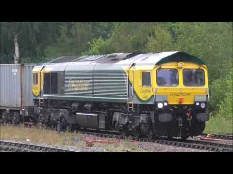 Freight trains & hst,s at Tamworth Leicester & Nuneaton 29/6/2016