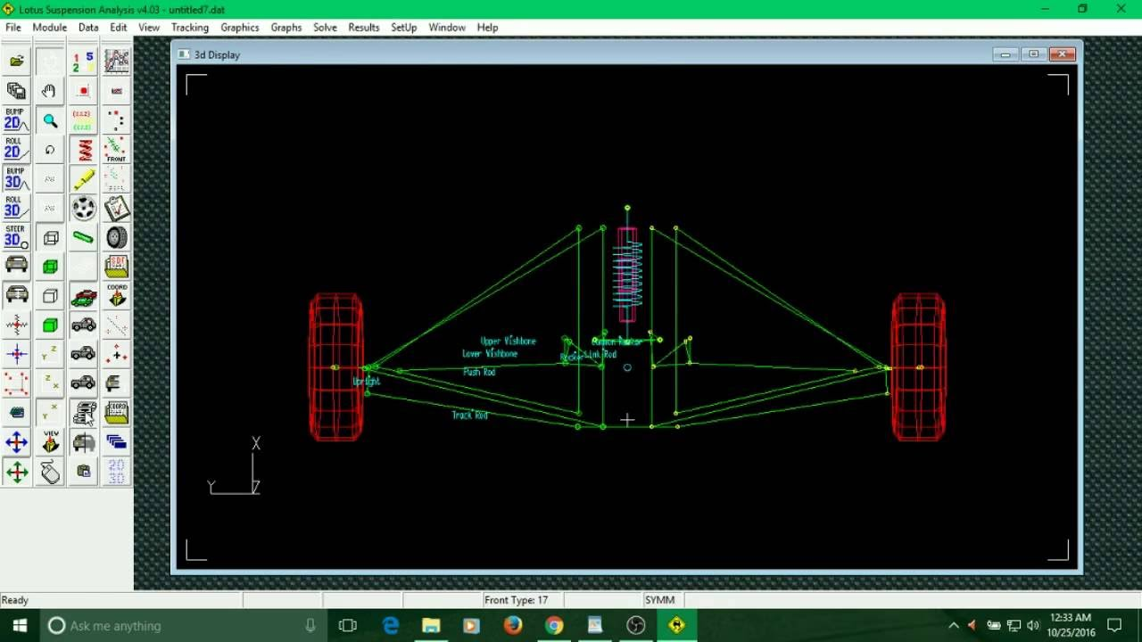 hight resolution of templates suspension systems in lotus shark and free body diagram generation