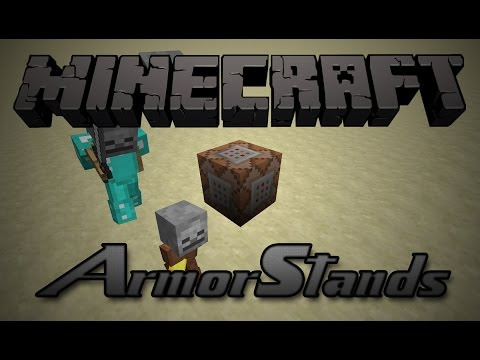 how to create a custom armor stand in minecraft