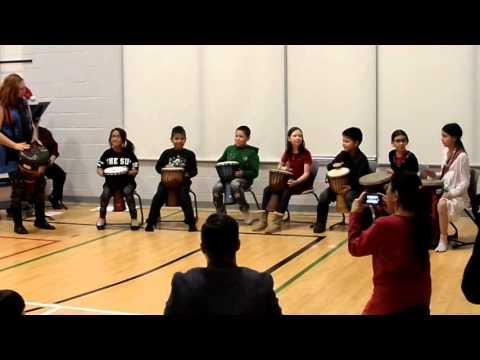 Seven Stones Drum Circle, 2015, First rhythm