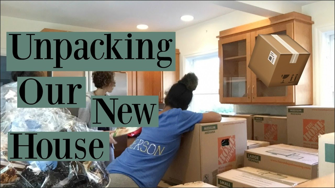 unpacking our new house youtube