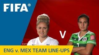 England v. Mexico - Team Lineups EXCLUSIVE