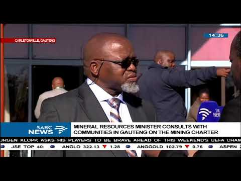 Mantashe heads Mining Charter consultations with communities