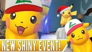 ONE DAY SHINY EVENT IN POKEMON GO! Shiny Ash Hat Pikachu Available in Photo Bomb on April 1st Only!
