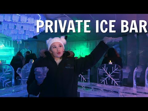 INSIDE OUR PRIVATE ICE BAR?!