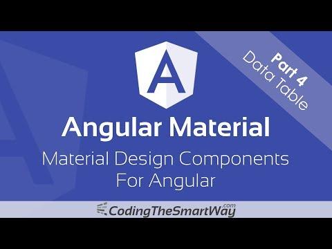Angular Material - Part 4: Data Table