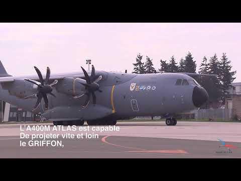 L'A400M de l'armée de l'Air et de l'Espace transporte un Griffon de l'armée de Terre !