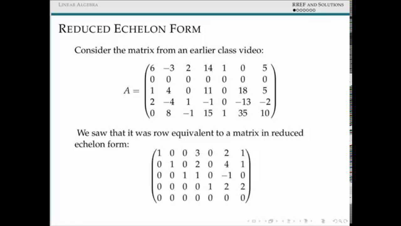 Parametrizing Solution Sets - YouTube