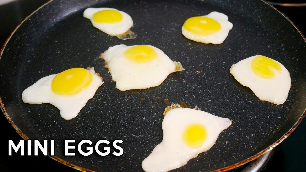 1 Egg Makes 6 Mini Fried Eggs Frozen Egg Fried How To Make